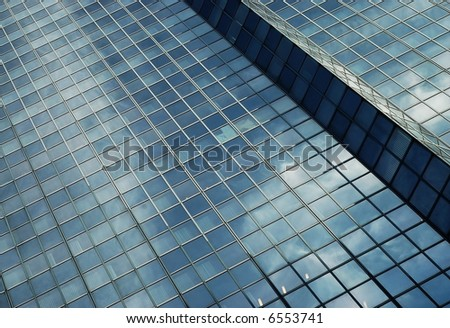 Glass and steel - stock photo