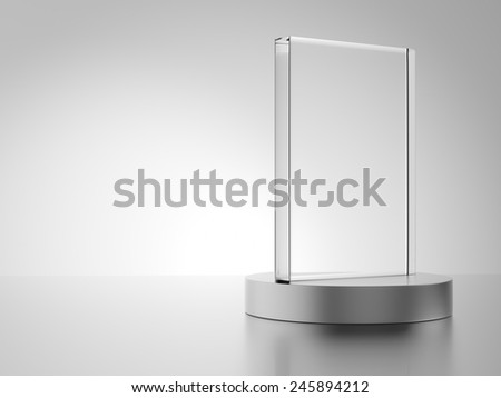 Glass award isolated on white background - stock photo