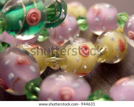 Glass Bead Bracelet - stock photo