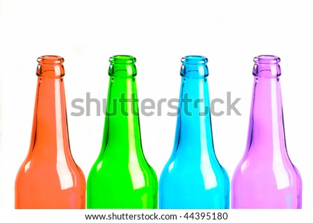 Glass bottle on a white background