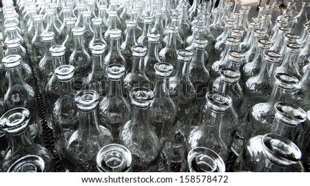 glass bottles - stock photo