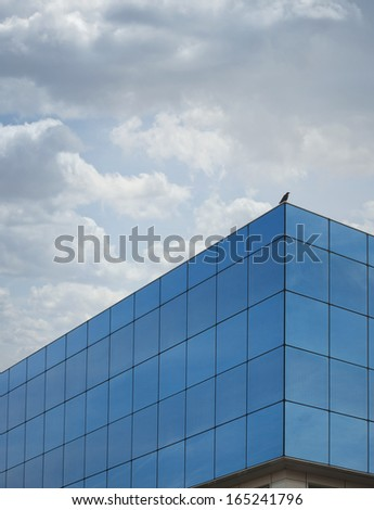 glass building with mirrors