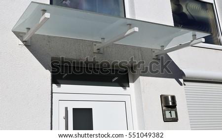 Glass Canopy Front Door Stock Photo 551049382 Shutterstock