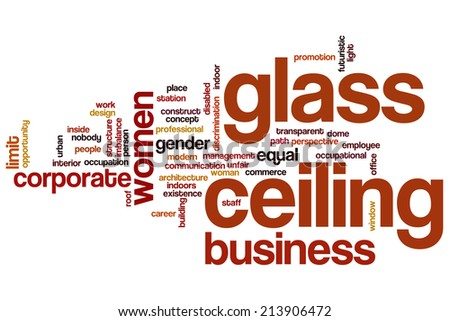 Glass ceiling concept word cloud background - stock photo