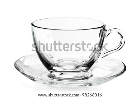 Glass cup. - stock photo