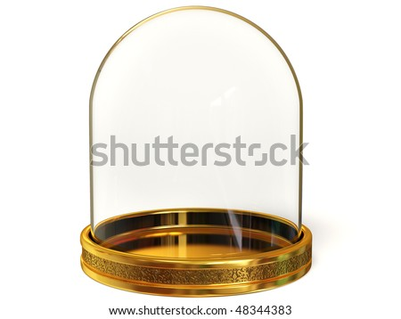 glass dome on white background