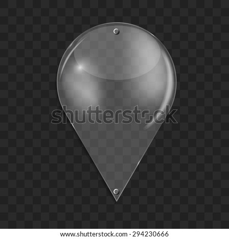 Glass Drop Frame on Abstract Background  Illustration  - stock photo