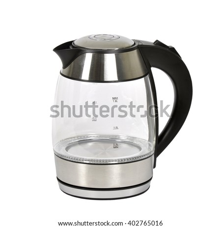 glass electric kettle - stock photo