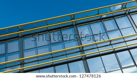 glass exterior of a modern office building