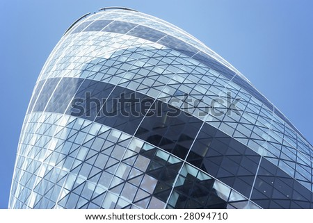 Glass Exterior Of Swiss Re Tower, London, England - stock photo
