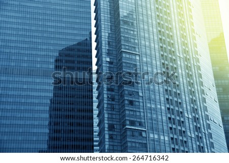 Glass facade of modern building,abstract  view. - stock photo