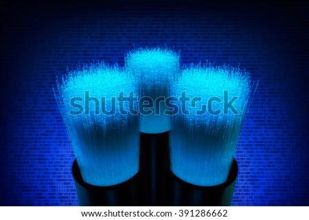 glass fiber - stock photo