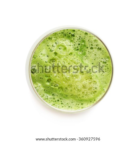 Glass filled with fresh pressed juice - stock photo