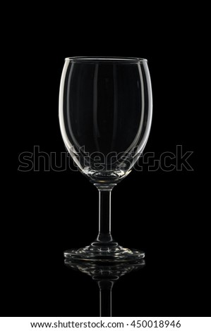 Glass for drink water and milk in black background