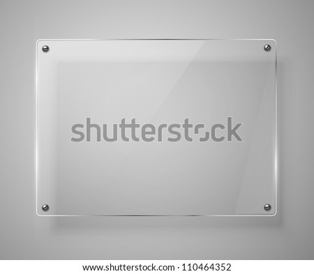 Glass framework. Vector illustration. Jpeg version. - stock photo