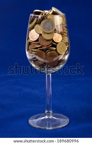 Glass full of Coins