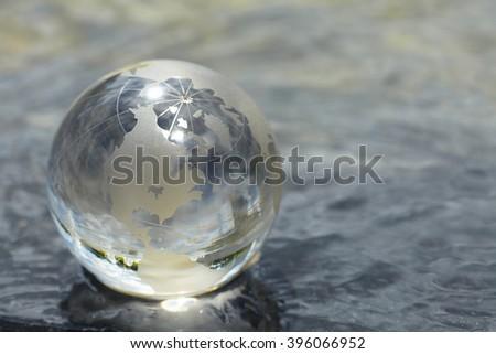 glass globe - stock photo