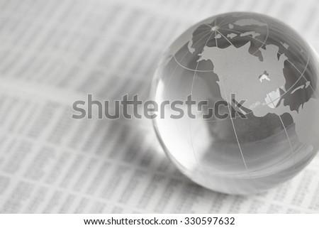 glass globe ball - stock photo
