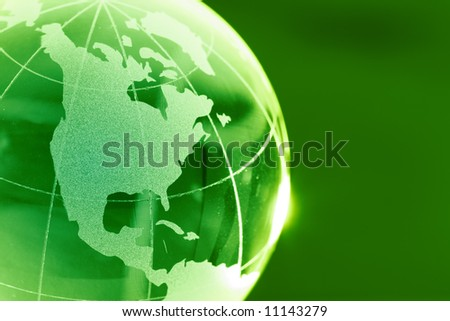 Glass globeQA - stock photo