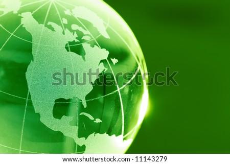 Glass globeQA - stock photo