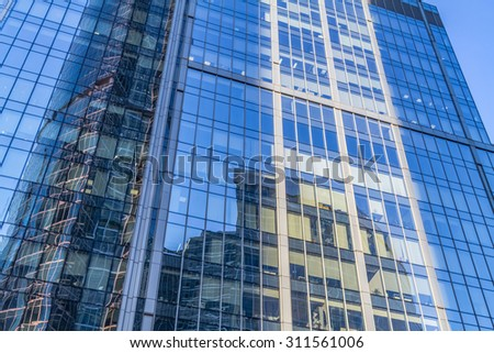 Glass high rise building. - stock photo