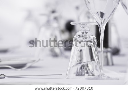 Glass in a table setting - stock photo