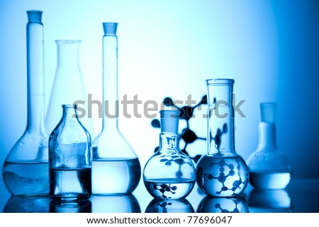Glass in laboratory - stock photo