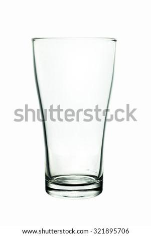 glass. Isolated on white background - stock photo
