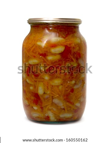 glass jar with marinated carrots