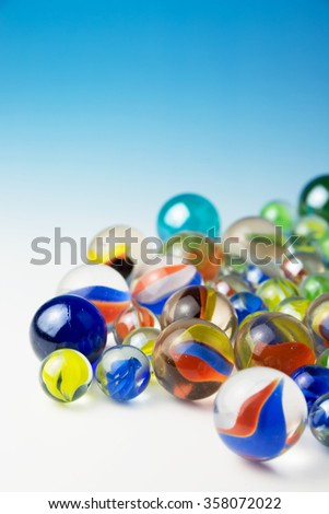 Glass marbles - stock photo