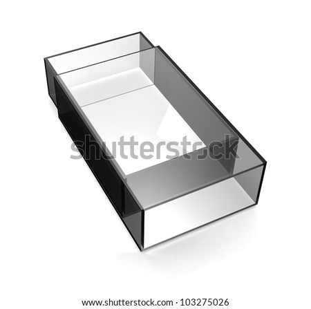 Glass matchbox - stock photo