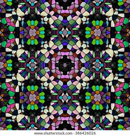 glass mosaic. seamless mosaic. mosaic background. Seamless background. mosaic tiles. seamless tiles. glass mosaic. colorful mosaic. stained glass. texture mosaic. seamless stained glass. mosaic glass - stock photo