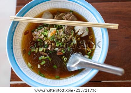 Glass noodle soup - stock photo