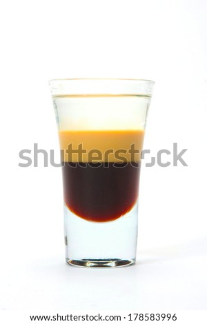 glass of alcohol - stock photo