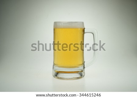 Glass of beer isolated. Clipping Path