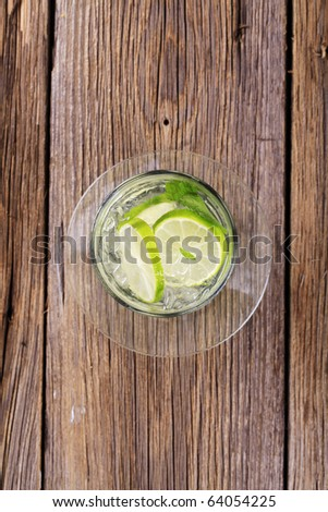 Glass of cold drink  - stock photo