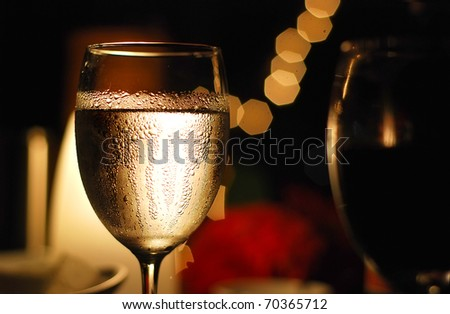 Glass of cold water - stock photo