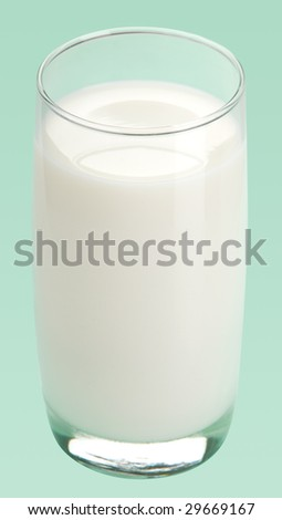 Glass of milk, isolated - stock photo