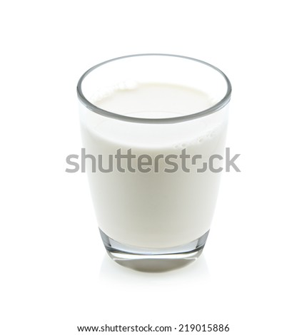 glass of milk isolated on white
