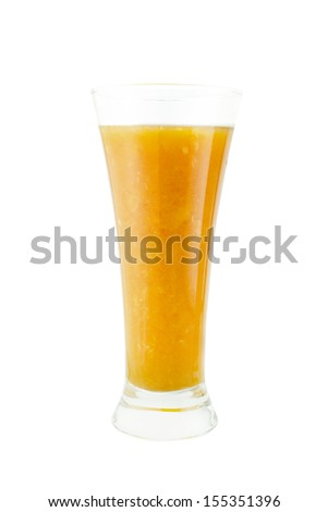 Glass of orange juice on white background,  (with clipping work path)