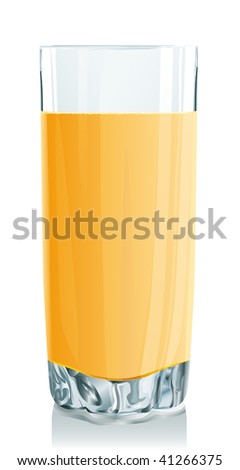 Glass of orange juice. Serio of images. Look my portfolio for reception of many images at this theme. - stock photo