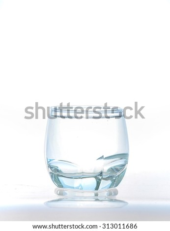 Glass of pure water Isolated on white background,The glass of Cool fresh drink