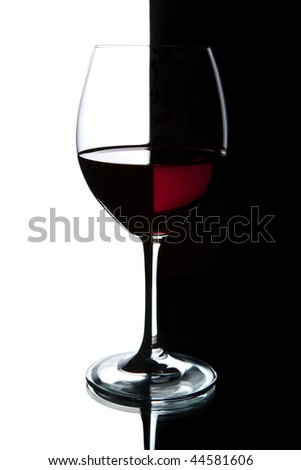 glass of red wine isolated - stock photo