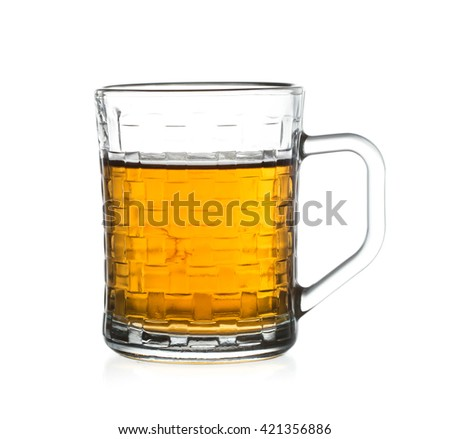 Glass of tea isolated on white background.
