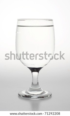 Glass of Water isolated in white - stock photo
