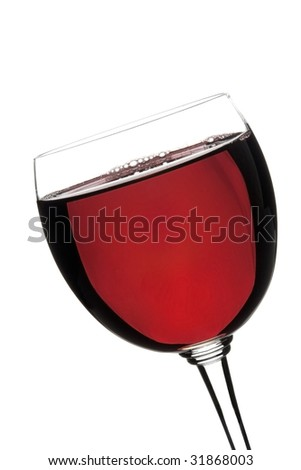 glass of wine in - stock photo