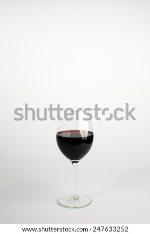 Glass of wine isolatet on white
