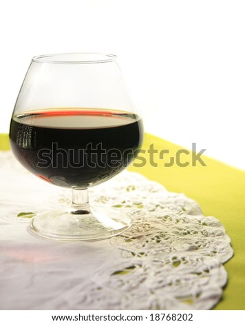 Glass of wine - Mood created by back lighting - stock photo