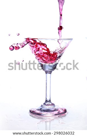 Glass of wine, wine distribution - stock photo