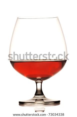 glass og cognac - stock photo